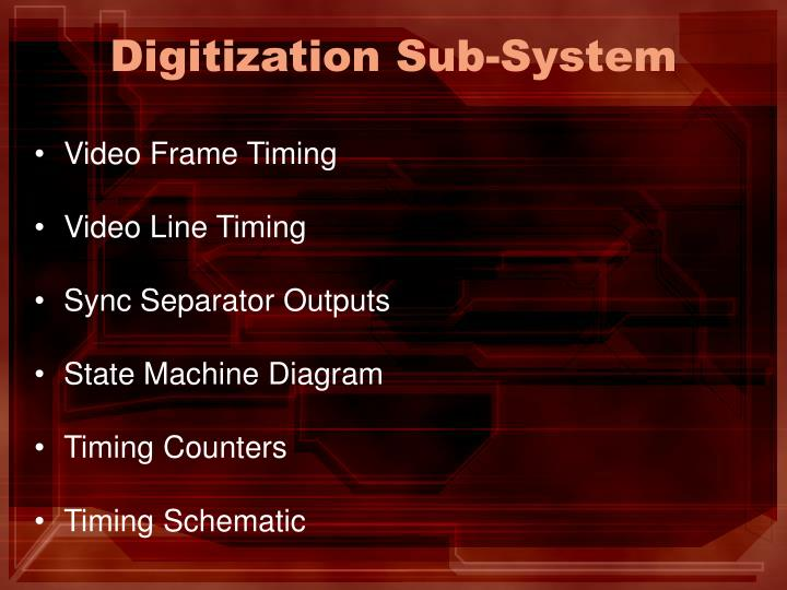 Digitization Sub-System