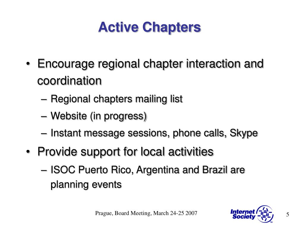 Active Chapters