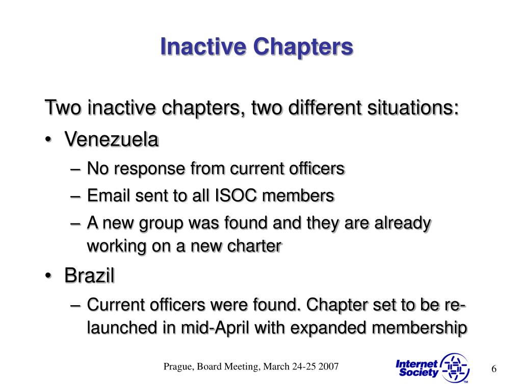 Inactive Chapters