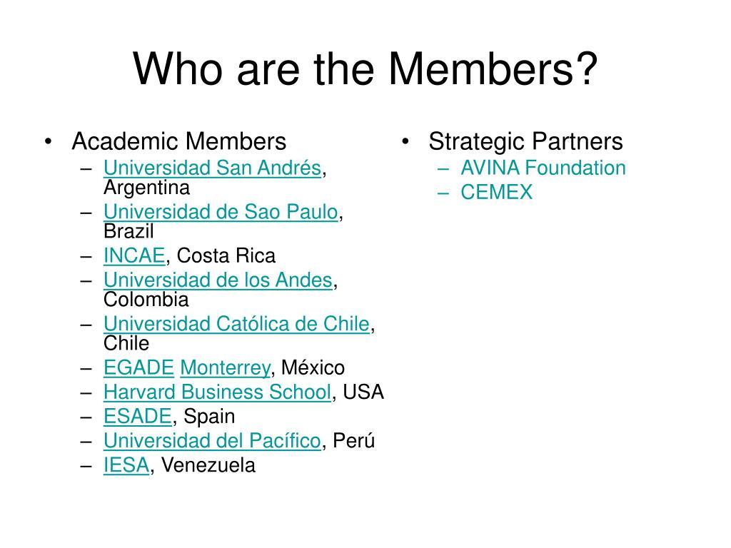 Academic Members