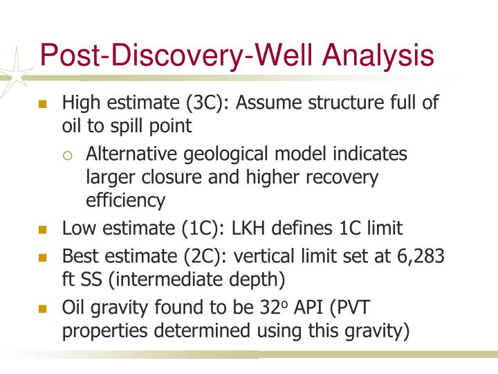 Post-Discovery-Well Analysis