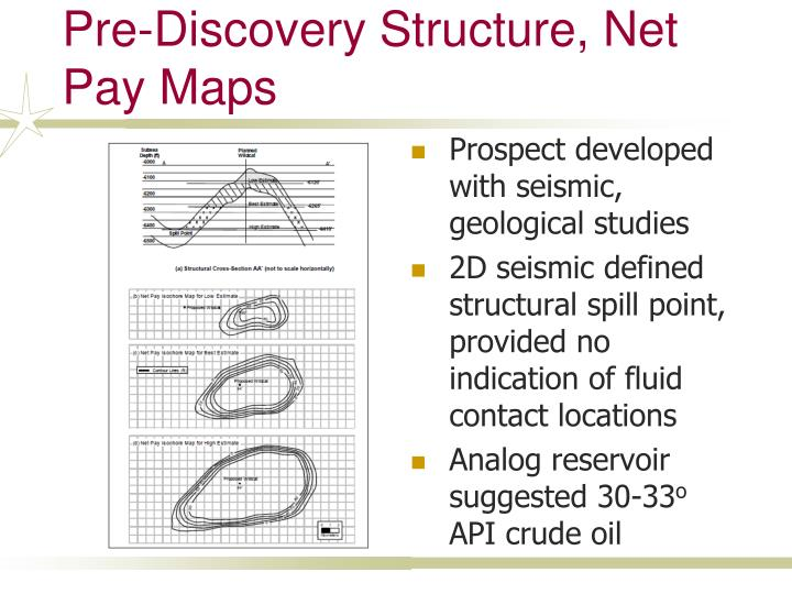 Pre-Discovery Structure, Net Pay Maps
