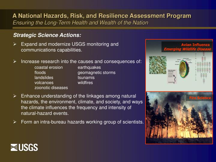 A National Hazards, Risk, and Resilience Assessment Program