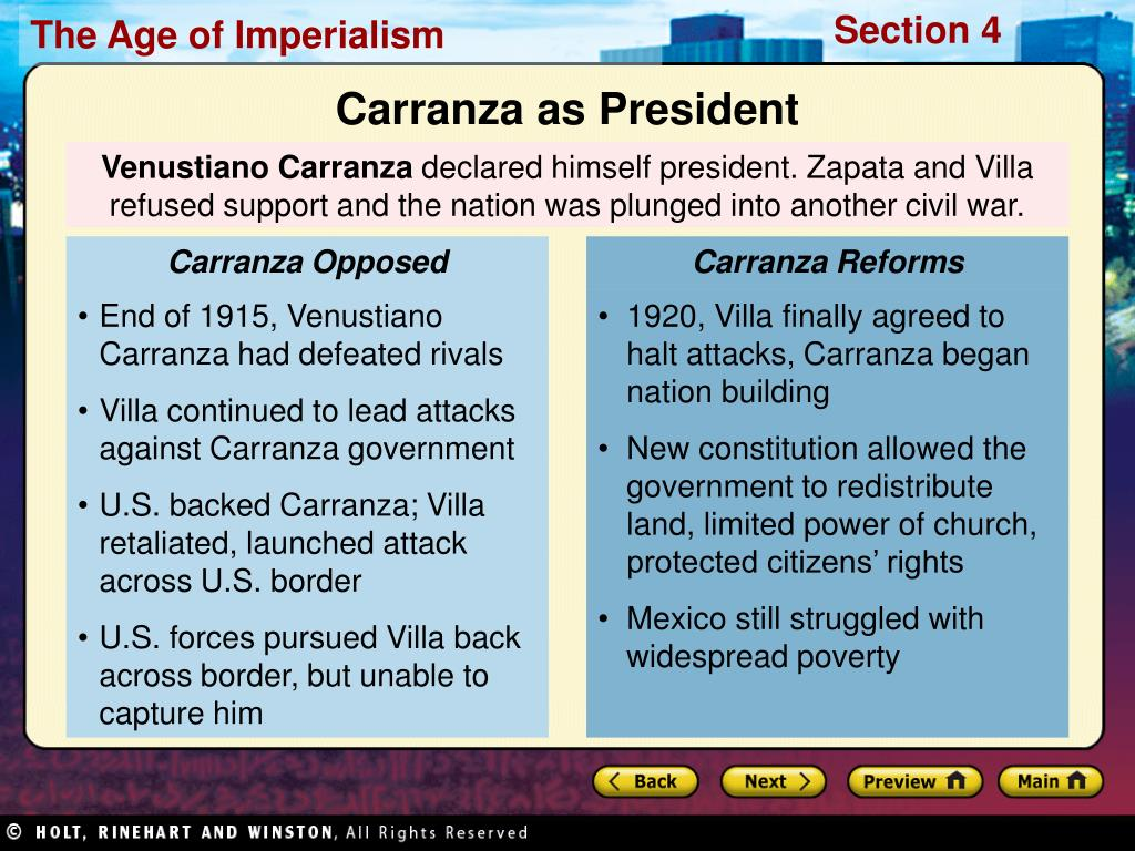 Carranza Opposed