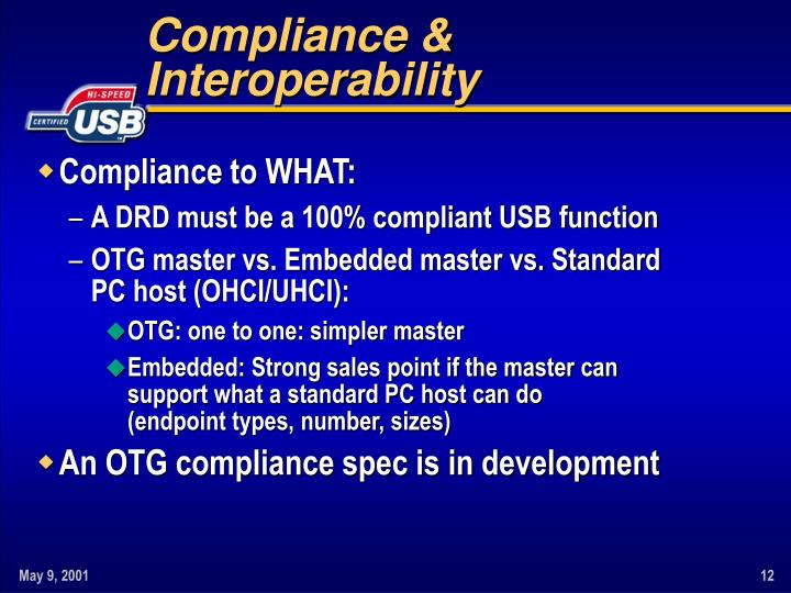 Compliance & Interoperability