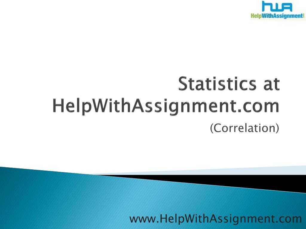 statistics at helpwithassignment com