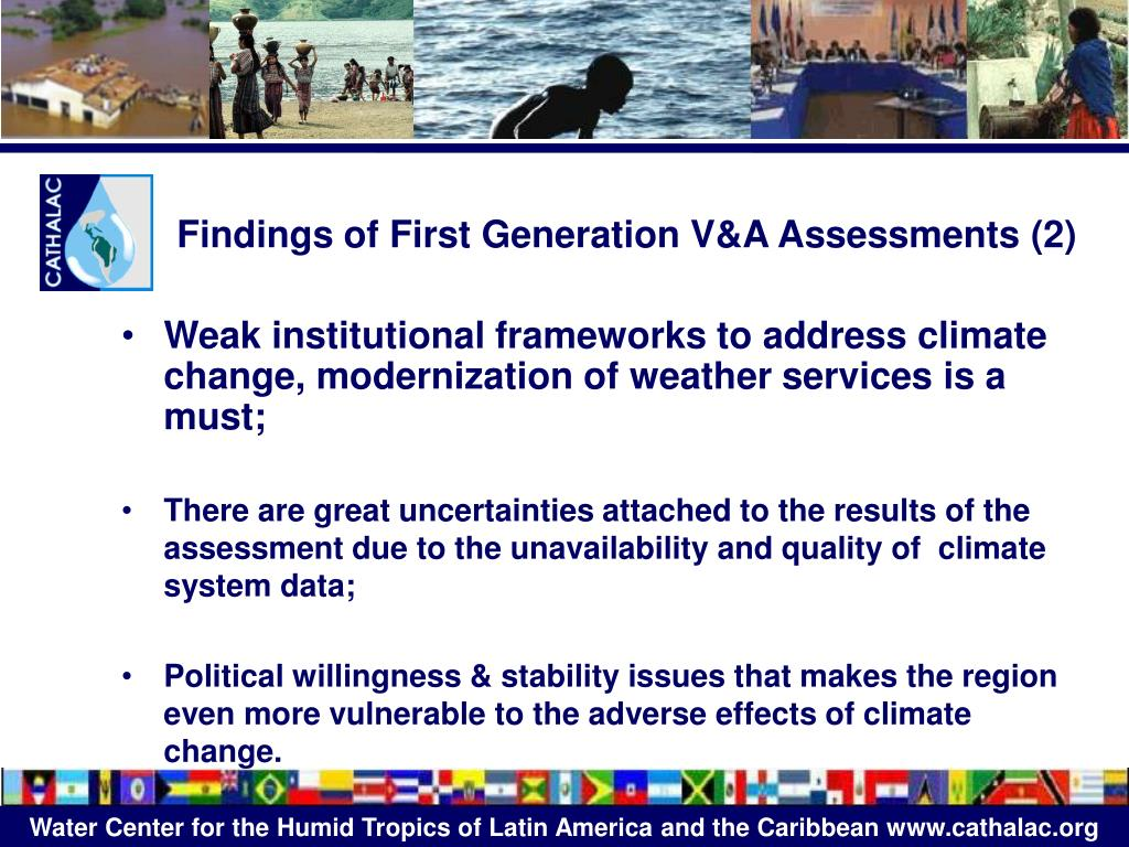 Findings of First Generation V&A Assessments (2)