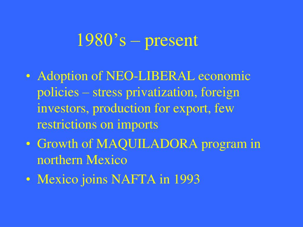 1980's – present