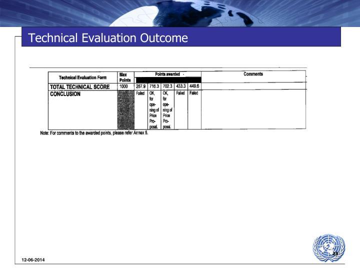 Technical Evaluation Outcome