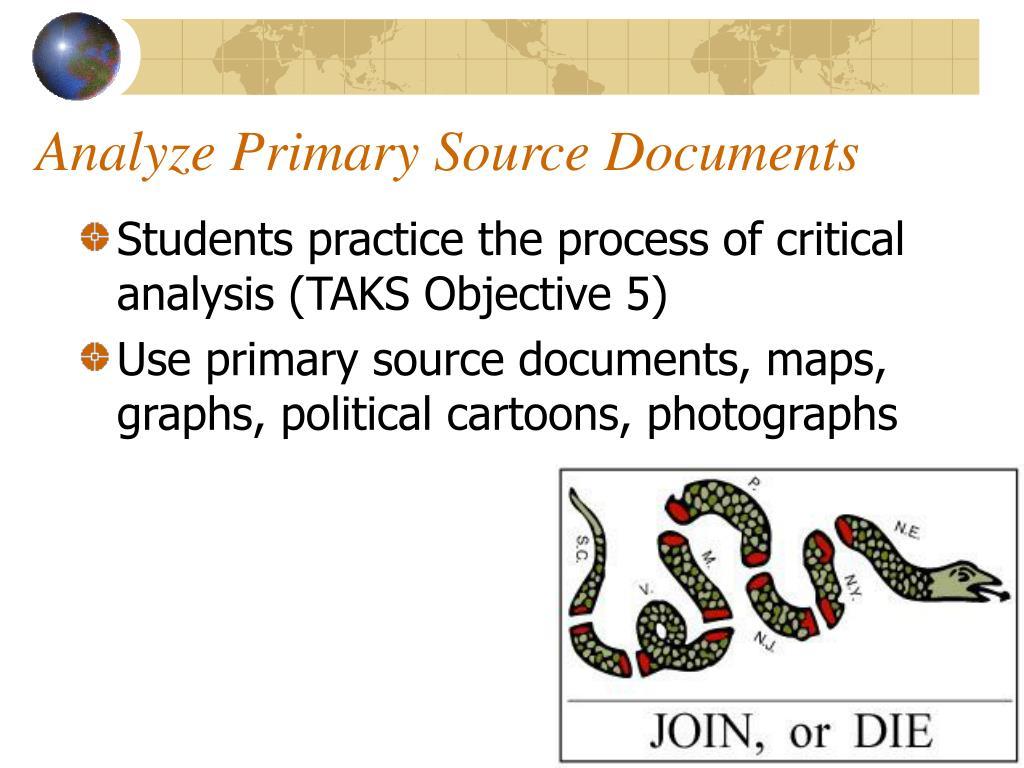 Analyze Primary Source Documents
