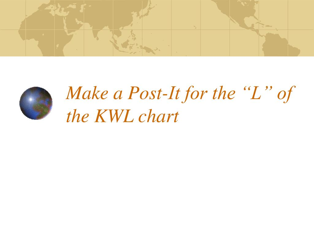 "Make a Post-It for the ""L"" of the KWL chart"