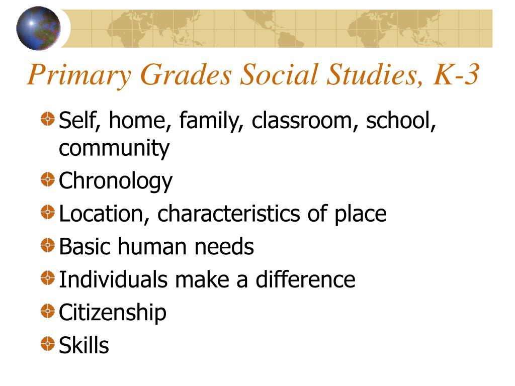 Primary Grades Social Studies, K-3