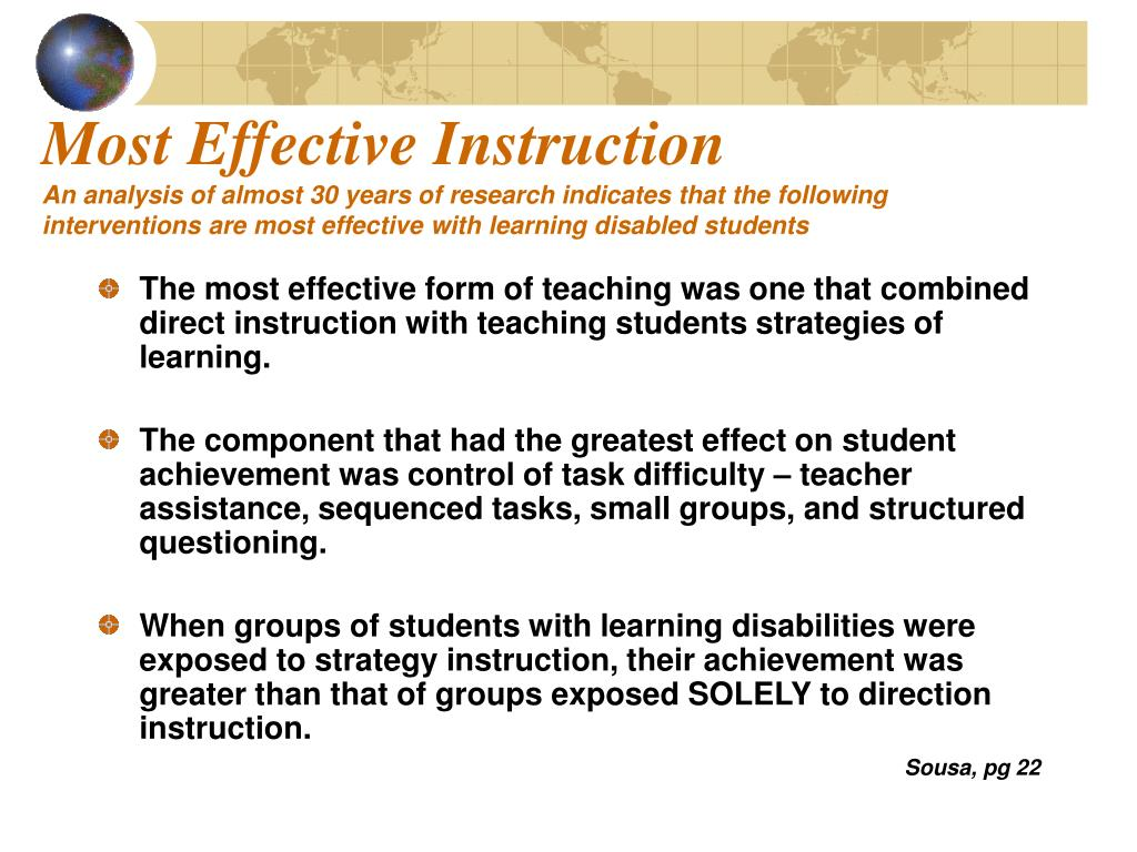 Most Effective Instruction