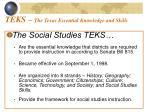 teks the texas essential knowledge and skills