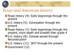 texas and american history