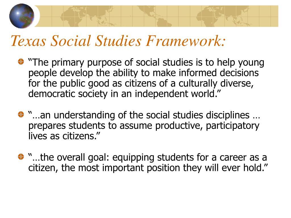 Texas Social Studies Framework: