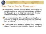 texas social studies framework