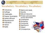 vocabulary vocabulary vocabulary