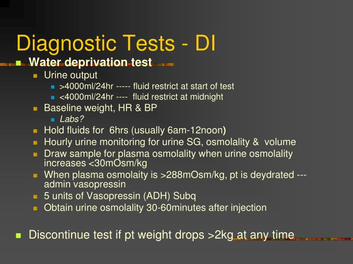 Diagnostic Tests - DI
