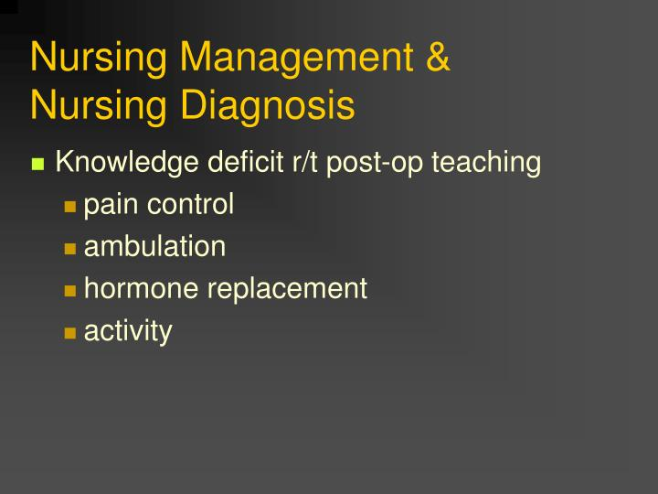 Nursing Management &