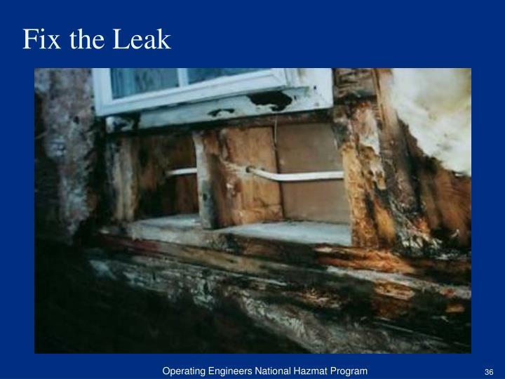 Fix the Leak