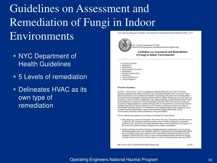 NYC Department of Health Guidelines