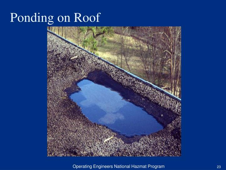 Ponding on Roof