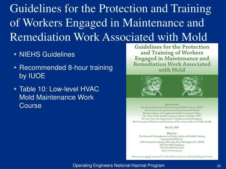 NIEHS Guidelines
