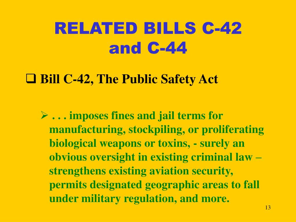 RELATED BILLS C-42