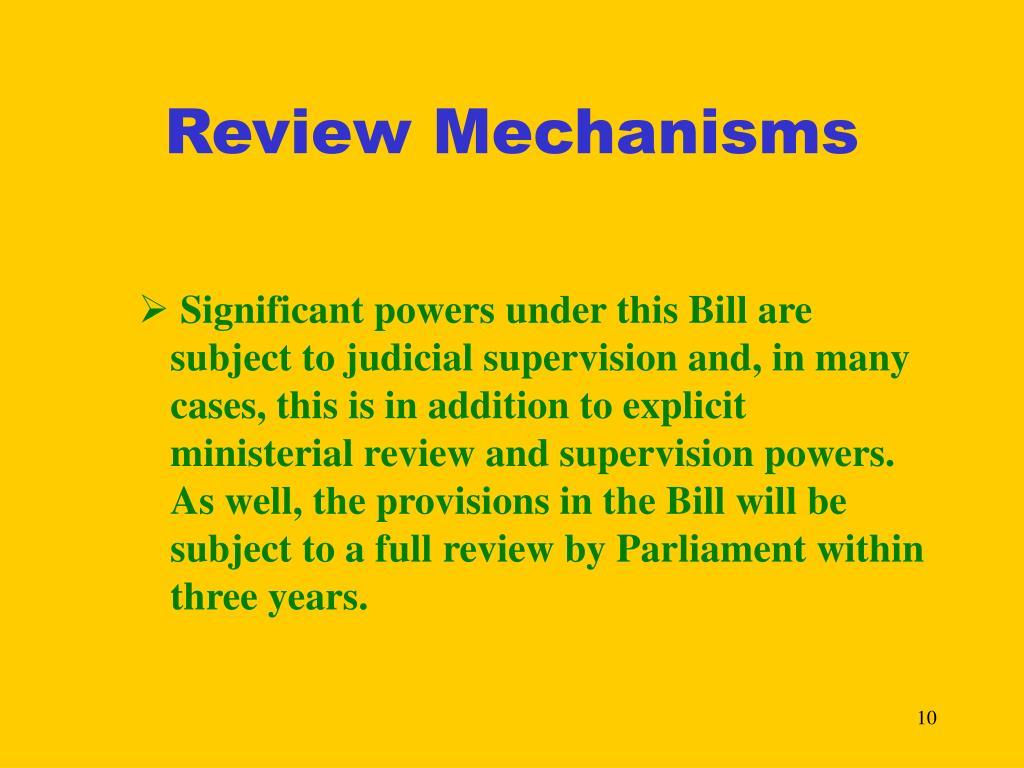 Review Mechanisms