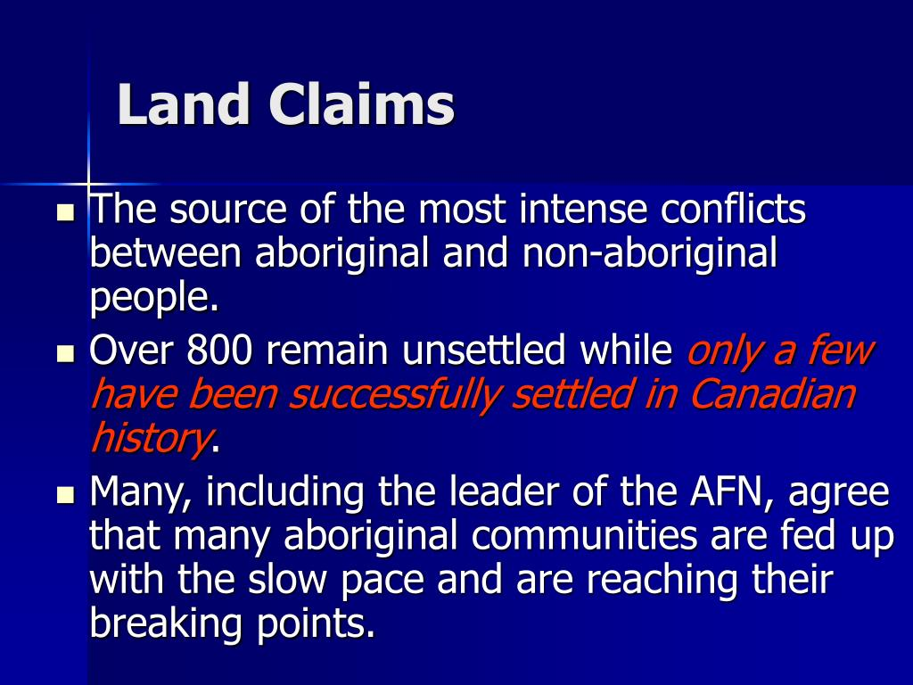 Land Claims