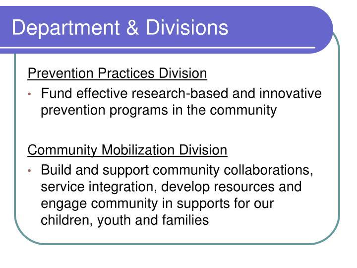Department & Divisions