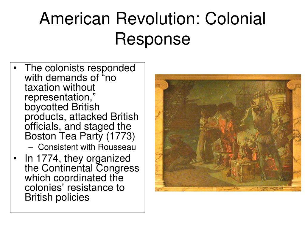 American Revolution: Colonial Response