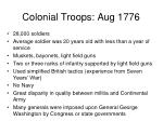 colonial troops aug 1776