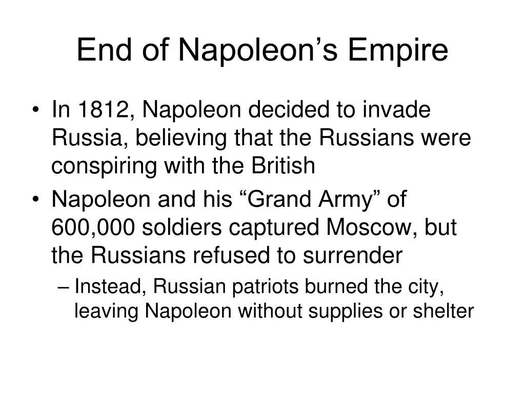 End of Napoleon's Empire