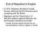 end of napoleon s empire