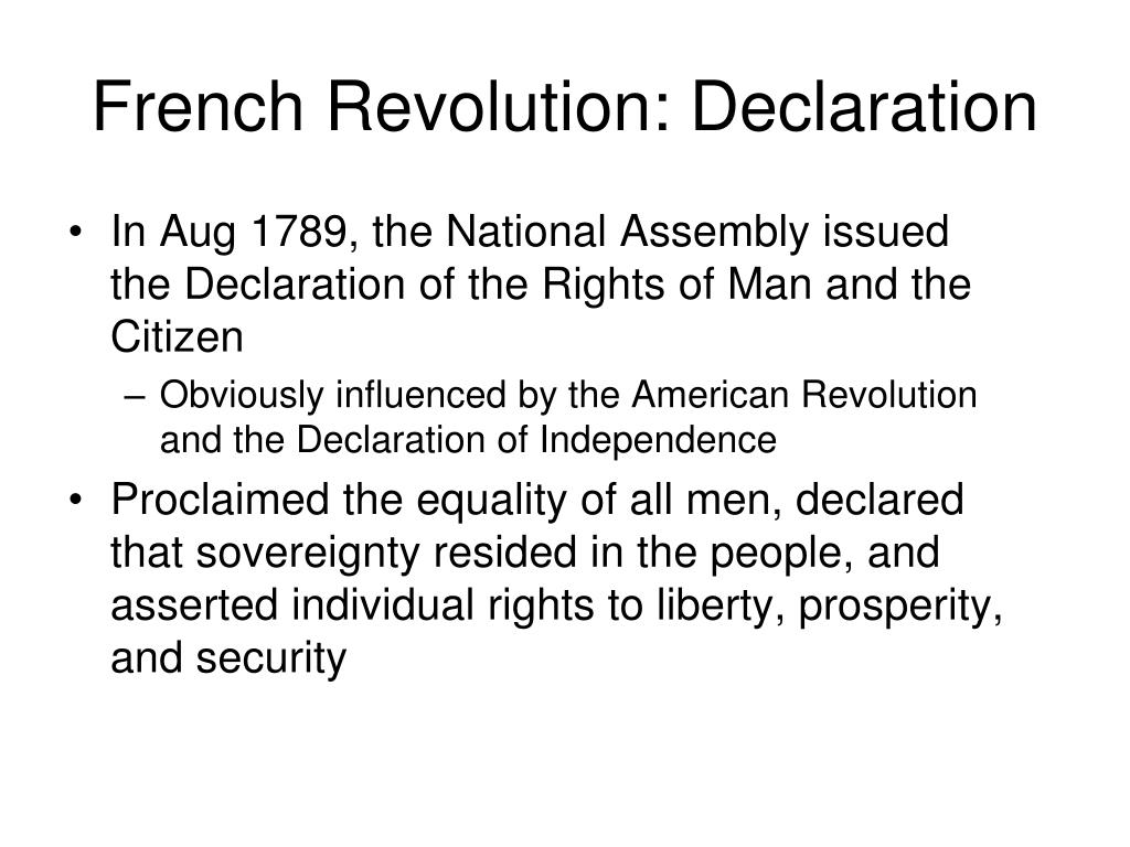 French Revolution: Declaration
