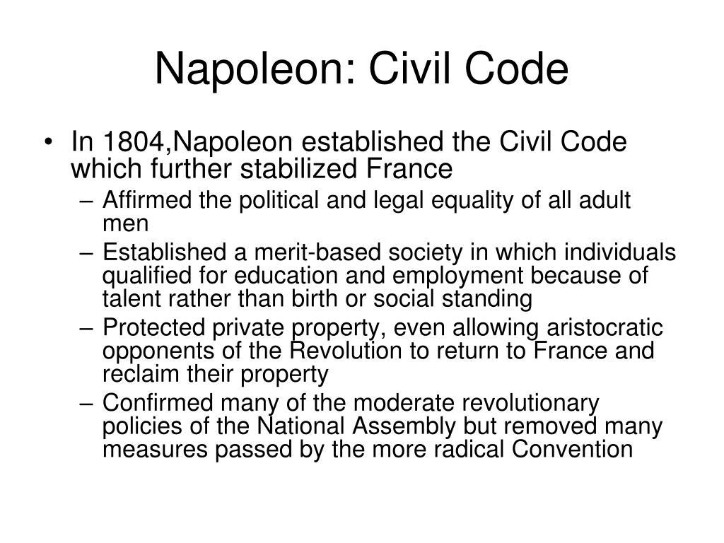 Napoleon: Civil Code