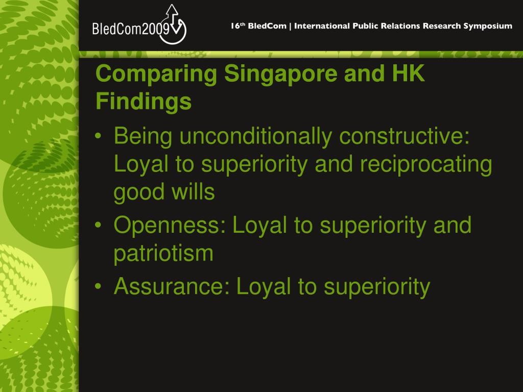 Comparing Singapore and HK Findings