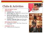 clubs activities