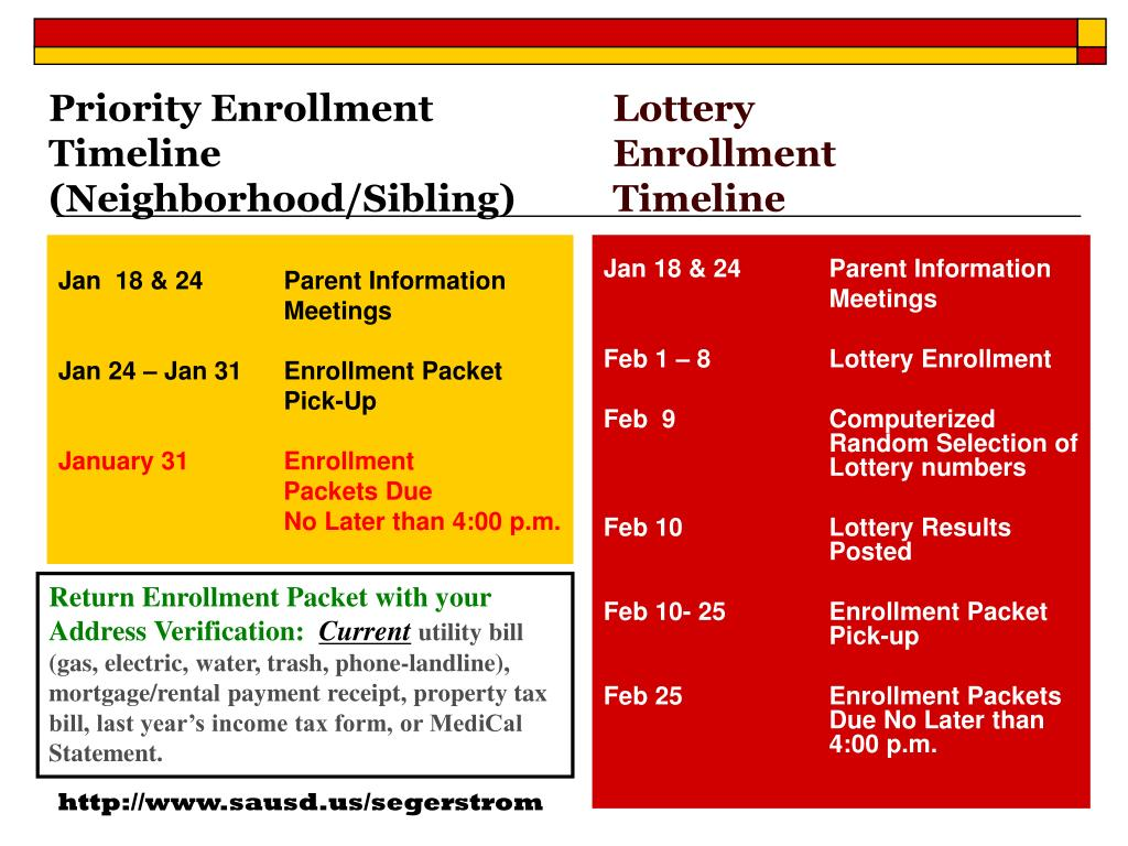 Priority Enrollment