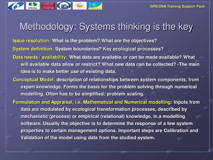 Methodology systems thinking is the key
