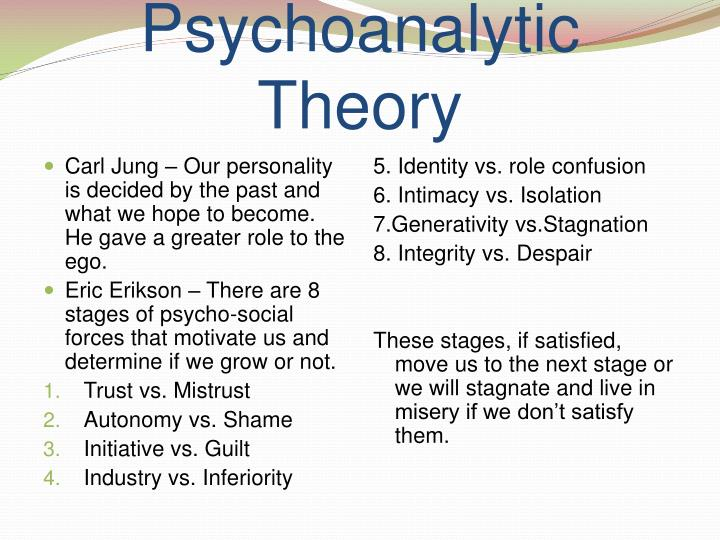 Psychoanalytic model