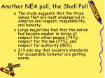 another nea poll the shell poll