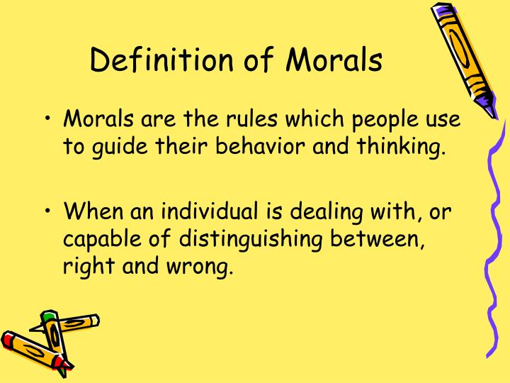 Definition of morals