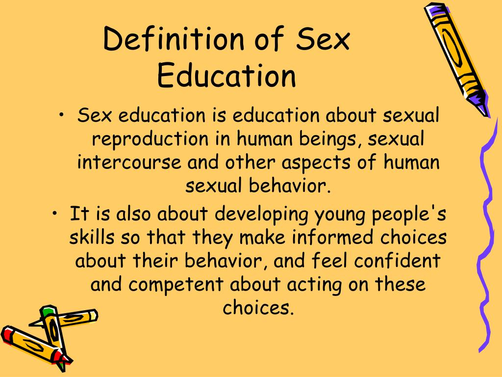 Definition of Sex Education