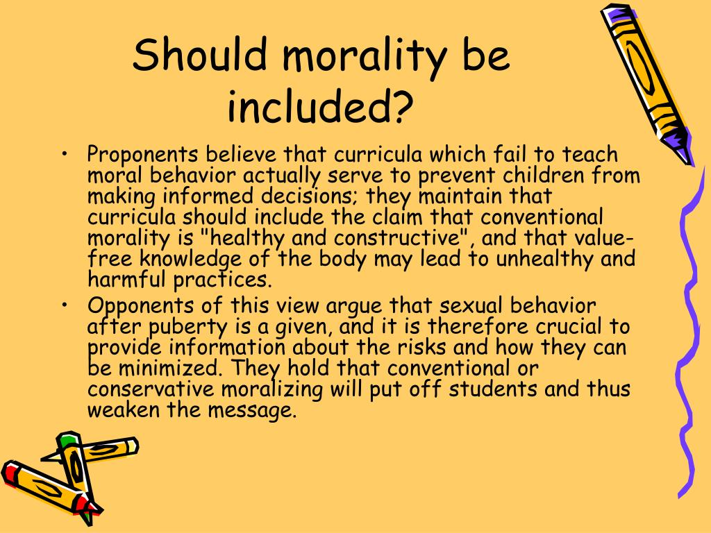 Should morality be included?