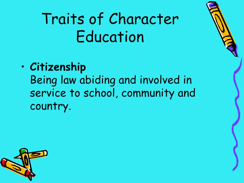 Traits of Character Education