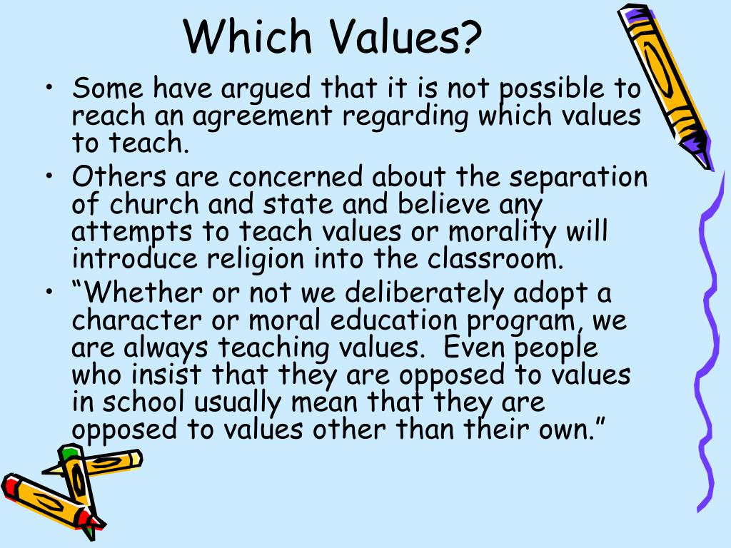 Which Values?