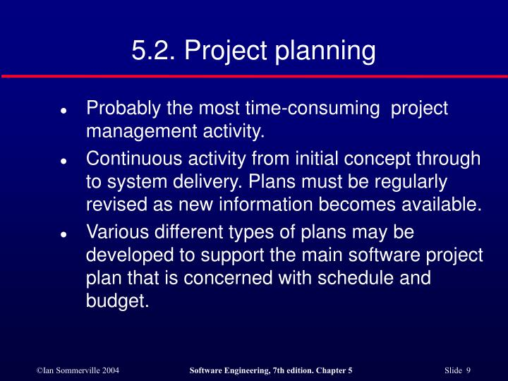 5.2. Project planning
